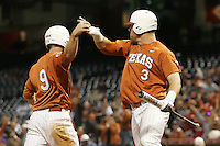NCAA Baseball featuring the Texas Longhorns against the Missouri Tigers. Rupp, Cameron 9054  at the 2010 Astros College Classic in Houston's Minute Maid Park on Sunday, March 7th, 2010. Photo by Andrew Woolley