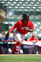 Boston Red Sox Pablo Sandoval (48) at bat during an Instructional League game against the Baltimore Orioles on September 22, 2016 at the Ed Smith Stadium in Sarasota, Florida.  (Mike Janes/Four Seam Images)
