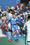 Getafe CF's Samu Saiz Alonso  and Celta de Vigo's Nestor Araujo  during La Liga match. February 09,2019. (ALTERPHOTOS/Alconada)