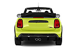 Straight rear view of 2022 MINI Cooper-Convertible John-Cooper-Works-Signature 2 Door Convertible Rear View  stock images
