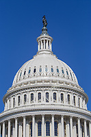 The dome of the U.S. Capitol Building in Washington, DC.