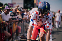 Polka Dot Jersey / KOM leader Dion Smith (AUS/Wanty-Groupe Gobert) rolling in<br /> <br /> Stage 3 (Team Time Trial): Cholet > Cholet (35km)<br /> <br /> 105th Tour de France 2018<br /> ©kramon