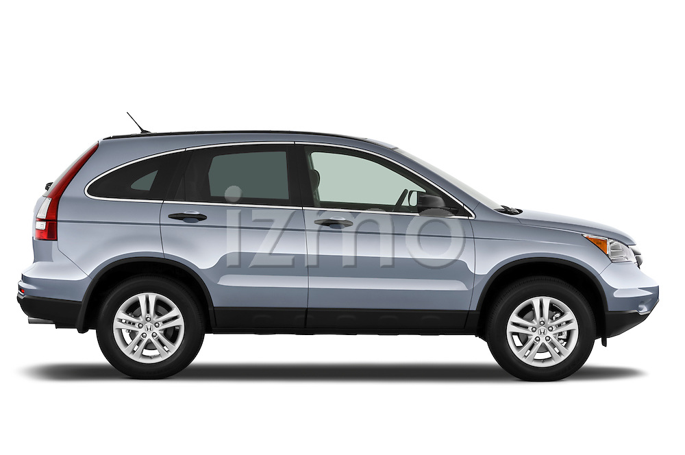 Passenger side profile view of a 2010 Honda CRV EX.
