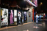 Souvenir shop with posters of MarilynMonroe and Jaems Dean at the Chinese Theater on Hollywood Blvd. circa 1990