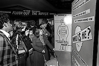 Pix: Barry Wilkinson/SWpix.com. The Yorkshire Ripper Archive. 14th May 1979 - 11th May1980...COPYRIGHT PICTURE>>SIMON WILKINSON>>0870 092 0092>>..Flush out the Ripper Exhibition, Arndale Centre, Bradford..