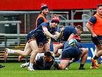 Thursday 7th October 2021<br /> <br /> Nathan Doak during Ulster Rugby Captain's Run held at Kingspan Stadium, Ravenhill Park, Belfast, Northern Ireland. Photo by John Dickson/Dicksondigital