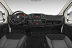 Stock photo of straight dashboard view of2017 Ram Promaster 1500 136 WB Low Roof 3 Door Cargo Van Dashboard