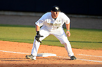 Central Florida Knights first baseman James Vasquez #13 during a game against the Siena Saints at Jay Bergman Field on February 16, 2013 in Orlando, Florida.  Siena defeated UCF 7-4.  (Mike Janes/Four Seam Images)