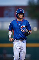 AZL Cubs 2 Bryce Windham (2) jogs off the bases between innings of an Arizona League game against the AZL Dbacks on June 25, 2019 at Sloan Park in Mesa, Arizona. AZL Cubs 2 defeated the AZL Dbacks 4-0. (Zachary Lucy/Four Seam Images)