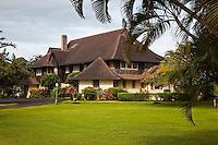 The historic Kilohana Plantation house on Kauai