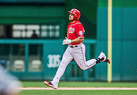 22 June 2014: Washington Nationals infielder Anthony Rendon in action against the Atlanta Braves at Nationals Park in Washington, DC. The Nationals defeated the Braves 4-1 to split their 4-game series and take sole possession of first place in the NL East. Mandatory Credit: Ed Wolfstein Photo *** RAW (NEF) Image File Available ***