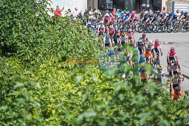 The start of Stage 12 of La Vuelta d'Espana 2021, running 175km from Jaén to Córdoba, Spain. 26th August 2021. <br /> Picture: Unipublic/Charly Lopez | Cyclefile<br /> <br /> All photos usage must carry mandatory copyright credit (© Cyclefile | Charly Lopez/Unipublic)