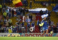 BOGOTÁ -COLOMBIA, 02-08-2014. Aspecto del encuentro entre Millonarios y Boyacá Chicó FC por la fecha 3 de la Liga Postobón II 2014 jugado en el estadio Nemesio Camacho El Campín de la ciudad de Bogotá./ Aspect of the match between Millonarios and Boyaca Chico FC for the third date of the Postobon League II 2014 played at Nemesio Camacho El Campin stadium in Bogotá city. Photo: VizzorImage/ Gabriel Aponte / Staff