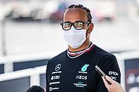 3rd June 2021; Baku, Azerbaijan;  HAMILTON Lewis (gbr), Mercedes AMG F1 GP W12 E Performance during the Formula 1 Azerbaijan Grand Prix 2021 at the Baku City Circuit, in Baku, Azerbaijan -