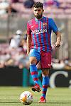 FC Barcelona's Jordi Alba during La Liga match. August 29, 2021. (ALTERPHOTOS/Acero)