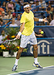 Juan Martin del Potro of Argentina beat Bernard Tomic of Australia in the 3rd round at the Citi Open in Washington, DC on August 1, 2013.