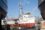 Port Townsend, Boat Haven Marina, boat harbor, Fishing boat, Evening Star, salmon seiner, Jefferson County, Olympic Peninsula, Washington State, Pacific Northwest, USA,