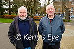 Enjoying a stroll in the Tralee town park on Monday, l to r: Joe Ryle and Michael Moran.