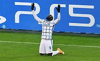 Romelu Lukaku celebrates after scoring the goal of 1-3 <br /> UEFA Champions League: Borussia Moenchengladbach - FC Internazionale Milano <br /> Moenchengladbach 01-12-2020 Borussia park <br /> <br /> Photo UWE KRAFT/Imago/Insidefoto
