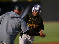 Montverde Academy Eagles pitcher Victor Rodriguez (24) rounds the bases after hitting a home run during a game against the IMG Academy Ascenders on April 8, 2021 at IMG Academy in Bradenton, Florida.  (Mike Janes/Four Seam Images)