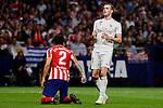 Jose Maria Gimenez of Atletico de Madrid and Gareth Bale of Real Madrid during La Liga match between Atletico de Madrid and Real Madrid at Wanda Metropolitano Stadium in Madrid, Spain. September 28, 2019. (ALTERPHOTOS/A. Perez Meca)