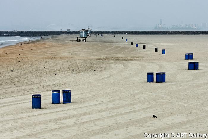 Pigeons & Blue Barrels, Seal Beach, CA