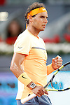 Rafael Nadal, Spain, during Madrid Open Tennis 2016 match.May, 6, 2016.(ALTERPHOTOS/Acero)