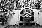 Spanish Fountain (b&w), Newport Beach, CA