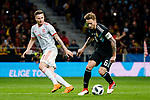 Lucas Biglia of Argentina (R) in action during the International Friendly 2018 match between Spain and Argentina at Wanda Metropolitano Stadium on 27 March 2018 in Madrid, Spain. Photo by Diego Souto / Power Sport Images