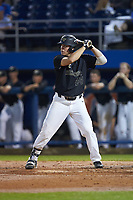 Gavin Sheets (24) of the Wake Forest Demon Deacons at bat against the Florida Gators in Game Three of the Gainesville Super Regional of the 2017 College World Series at Alfred McKethan Stadium at Perry Field on June 12, 2017 in Gainesville, Florida. The Gators defeated the Demon Deacons 3-0 to advance to the College World Series in Omaha, Nebraska. (Brian Westerholt/Four Seam Images)