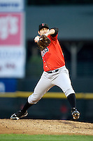 Indianapolis Indians pitcher Bryan Morris #38 during a game against the Empire State Yankees at Frontier Field on August 4, 2012 in Rochester, New York.  Empire State defeated Indianapolis 9-8 in ten innings.  (Mike Janes/Four Seam Images)