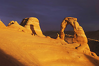 Delicate Arch at sunset , Arches National Park, Utah, USA, September 2007