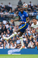 19th September 2021; Tottenham Hotspur Stadium, Tottenham, London; Antonio Rudiger of Chelsea wins the header during the Premier League match between Tottenham Hotspur and Chelsea at Tottenham Hotspur Stadium
