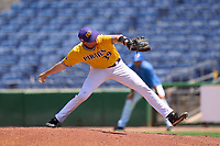 East Carolina Pirates pitcher Cam Colmore (39) during a game against the Memphis Tigers on May 25, 2021 at BayCare Ballpark in Clearwater, Florida.  (Mike Janes/Four Seam Images)