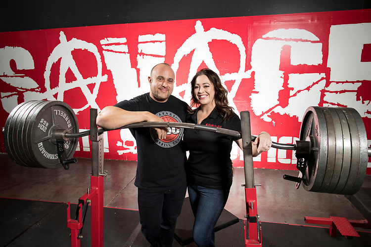 Jeron and Shayna Kerrige, owners of Savage Barbell Club in Tigard.<br /> Photo by Jaime Valdez