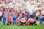 Atletico de Madrid's player Augusto Matías injured during a match of La Liga Santander at Vicente Calderon Stadium in Madrid. September 25, Spain. 2016. (ALTERPHOTOS/BorjaB.Hojas)