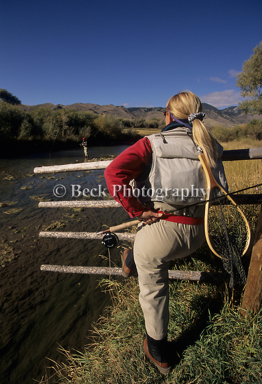 Fly fishing on the Ruby River, Montana