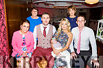 The christening party of Fiadh Barrett from Castleisland in Benners Hotel on Saturday.<br /> Front l to r: Jess Cotter (GM), Dad, Con and Fiadh Barrett, (Mom) Christina Egan and Daniel Egan.<br /> Back l to r: Ellen Barry and Elaine Egan.