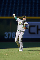 Oakland Athletics Robert Bennie (16) during an Instructional League game against the Arizona Diamondbacks on October 15, 2016 at Chase Field in Phoenix, Arizona.  (Mike Janes/Four Seam Images)
