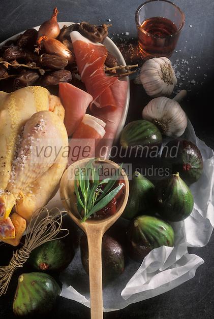 Gastronomie générale / Cuisine générale :  Figues farcies à la chair de poularde - Ingrédients crus