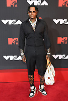 NEW YORK, NY- SEPTEMBER 12: Moneybagg Yo at the 2021 MTV Video Music Awards at Barclays Center on September 12, 2021 in Brooklyn,  New York City. <br /> CAP/MPI/JP<br /> ©JP/MPI/Capital Pictures