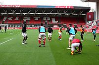 31st October 2020; Ashton Gate Stadium, Bristol, England; English Football League Championship Football, Bristol City versus Norwich; Bristol city players warm up before the match