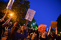 Washington, DC - May 31, 2020: Protesters gather in Lafayette Park across from the White House May 31, 2020 following the death of George Floyd in Minneapolis.  (Photo by Don Baxter/Media Images International)