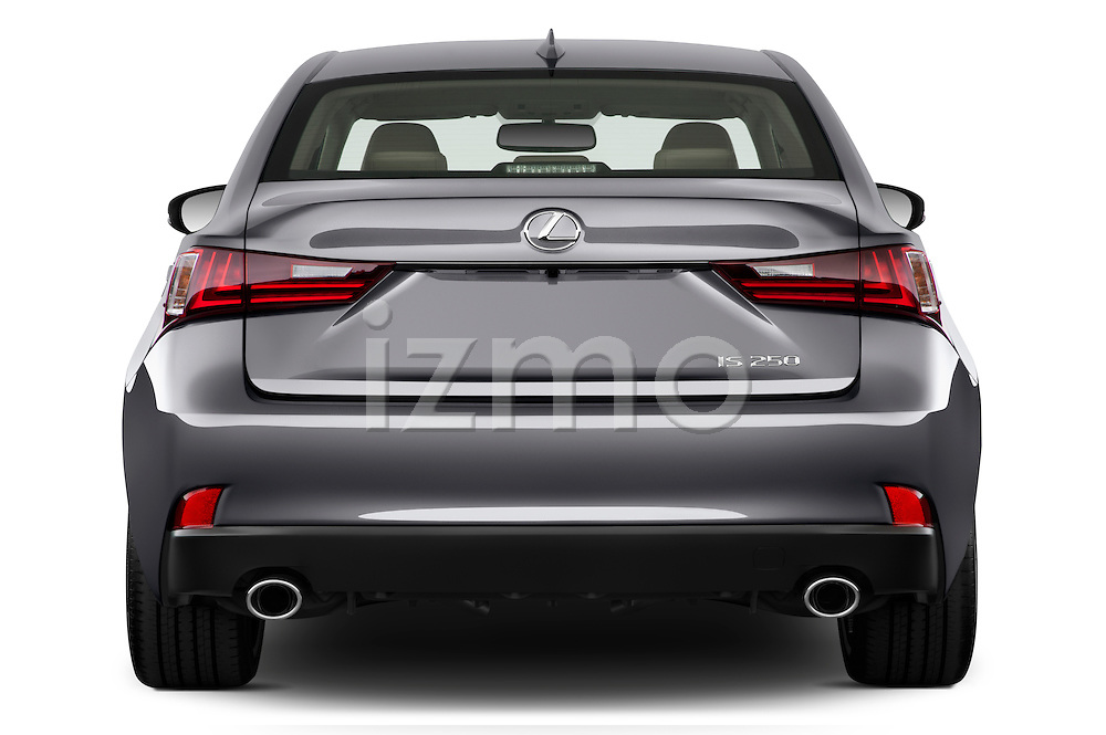 Straight rear view of a