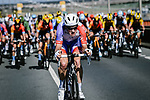 Stefan Kung (SUI) Groupama-FDJ from the day's breakaway is caught by the peloton during Stage 10 of Tour de France 2020, running 168.5km from Ile d'Oléron to Ile de Ré, France. 8th September 2020.<br /> Picture: ASO/Pauline Ballet | Cyclefile<br /> All photos usage must carry mandatory copyright credit (© Cyclefile | ASO/Pauline Ballet)