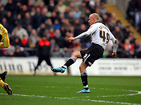 ATTENTION SPORTS PICTURE DESK<br /> Pictured: David Cotterill of Swansea scoring the opening goal, the first since he started playing for Swansea City.<br /> Re: Coca Cola Championship, Swansea City Football Club v Newcastle United at the Liberty Stadium, Swansea, south Wales. 13 February 2010