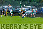 Na Gaeil's James O'Connor putting pressure on Timmie O'Leary of Currow effort in the Intermediate Club Championship