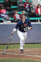 Niko Decolati (28) of the Loyola Marymount Lions bats against the Washington State Cougars at Page Stadium on February 26, 2017 in Los Angeles, California. Loyola defeated Washington State, 7-4. (Larry Goren/Four Seam Images)