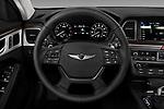 Car pictures of steering wheel view of a 2019 Genesis G80 RWD 4 Door Sedan