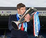 15.05.2021 Rangers v Aberdeen: Steven Gerrard with the league trophy